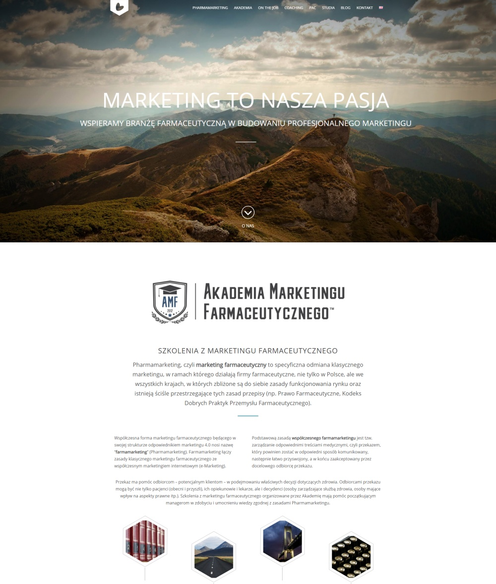 Akademia Marketingu - strona wordpress