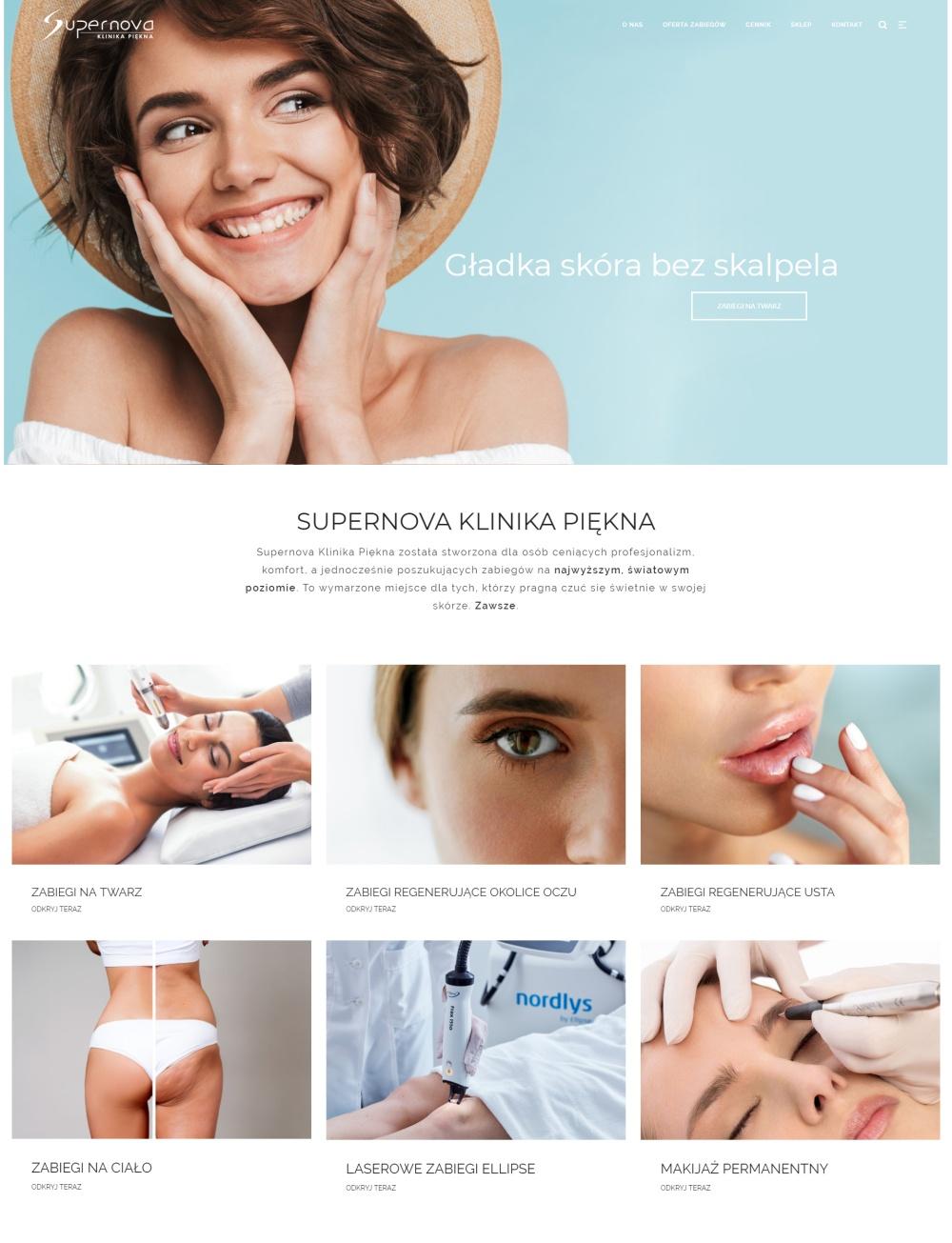 Klinika Supernova - strona na wordpressie_m