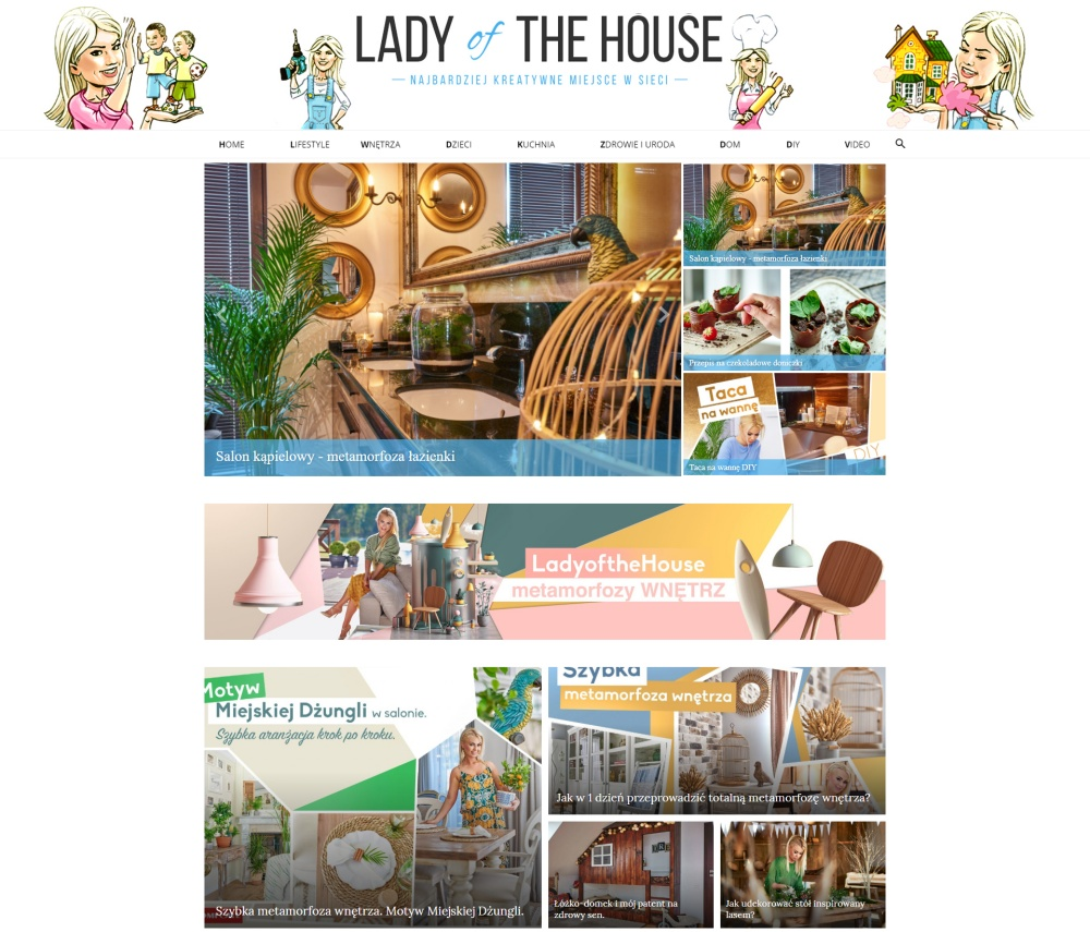 ladyofthehouse blog na WordPressie