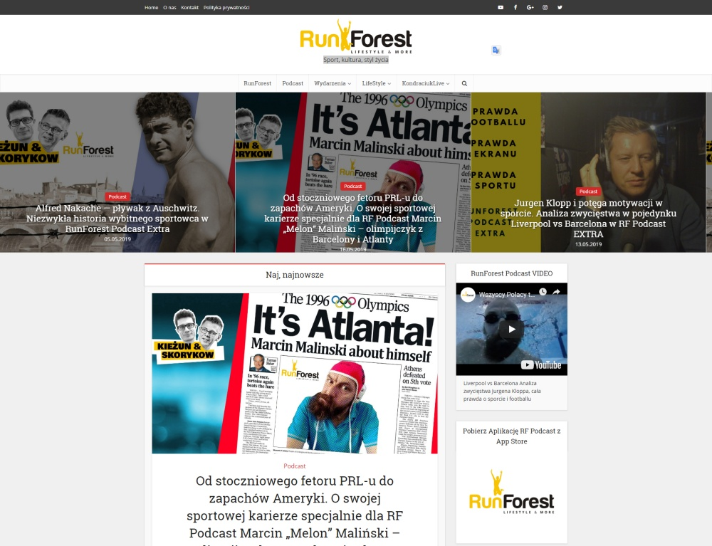 RunForest blog, podcast na WordpPressie