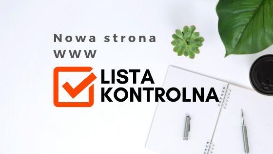 nowa strona internetowa www - lista kontrolna