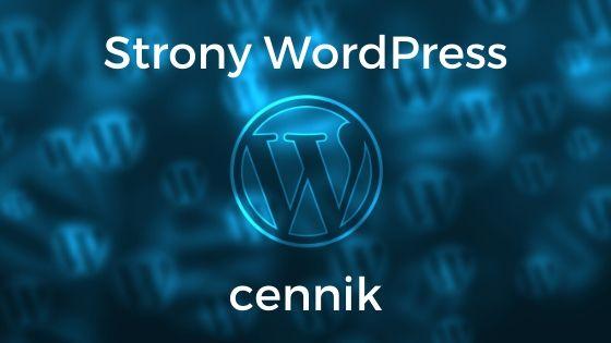 Strony WordPress cennik